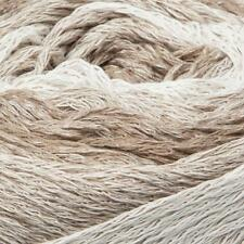 150g Balls - Katia Sfumato Cake - White & Beige #75 - 100% Cotton - $27.50