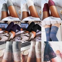 Lot Winter Soft Cable Knit Over knee Long Boot Thigh-High Warm Socks Leggings