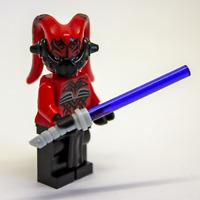 Lego Star Wars Custom Darth Talon Sith Old Republic Female Lethan Twi'lek - Red