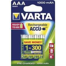 VARTA Lot de 4 piles rechargeables ACCU AAA 1000mAh