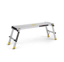 Gorilla Ladders Work Platform 300 lbs Load Capacity Foldable Aluminum Sturdy New