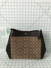 Coach 29548 Outline Signature Small Lexy Jacquard Leather Shoulder Crossbody Bag