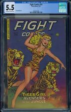 Fight Comics 74 / CGC 5.5 OW/W / Tiger Girl Cover / Fiction House