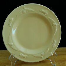 """Hallmark Easter Bunnie Rabbit Dessert Plate Pastel Yellow 8 3/8 """""""