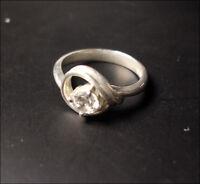 Ring  925er Silber Zirkonia rot Größe 17 / 54 Sterlingsilber