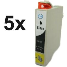 5 Druckerpatronen BK für Epson Stylus Photo P50 PX650 PX700W PX710W PX720WD R265