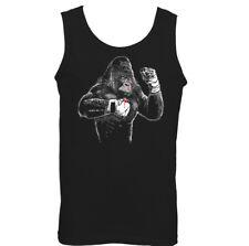 Boxing Vest Gorilla Mens Funny Gym MMA Muay Thai Kick Training Top Martail Arts