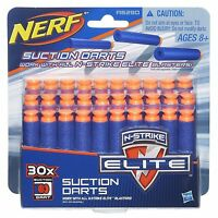 Brand New NERF Elite 30 SUCTION DARTS Refill Pack OFFICIAL