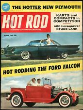 Vintage Hot Rod March 1960, Plymouth Sport Fury V8,Buick Invicta, Ford Falcon