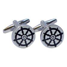 Buddhist Wheel of Dharma Design Round Cufflinks X2BOC187