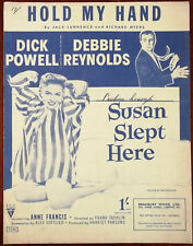 """Hold My Hand from """"Susan Slept Here"""" with Debbie Reynolds – Pub. 1950"""