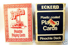Two Decks Pinochle Playing Cards from Eckerd Drugs Delta Red & Eckerd Trump Blue