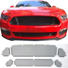 CCG FLAT BLACK GRILL GRILLE DELETE MESH INSERT KIT FOR 2015-17 FORD MUSTANG GT