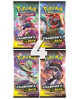 4 x Champion's Path Booster Pack (1 Art Set) Pokemon Cards SWSH English Sealed