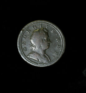 1723 Great Britain / Colonial USA Half 1/2 Penny George I