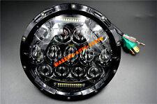 For Jeep Wrangler JK LJ CJ 7 Inch 75W LED Headlight w/ Driving Fog Lights Black
