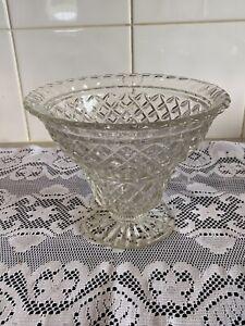 Vintage Depression Glass Vase