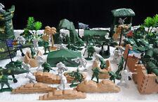100pcs lot Set Gi Joe Military Army Tank Fighter Soldier Guns Toys Model Figure