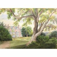 Original Acton Scott Church Stretton Shropshire Victorian Watercolour Painting