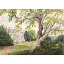 ORIGINALE Acton Scott Chiesa Stretton Shropshire Vittoriano dipinto ad Acquerello