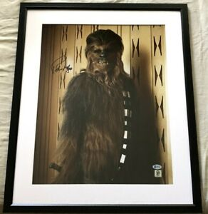 Peter Mayhew autographed signed Chewbacca Star Wars 16x20 movie photo framed BAS