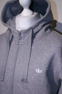 Adidas Originals - 3-Stripe Taped Hooded Track Jacket - L - Grey - Casual  Top