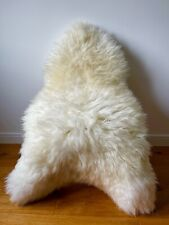 XXL Large Genuine Merino Sheepskin Sheep Rug Ivory/Cream Soft Real Fur