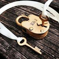 Love Lock Personalized With Keys Wedding Padlock Ceremony Anniversary Proposal