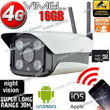 Ip Camera 4G 3G  Wireless Security GSM Farm Alarm System Remote Monitoring phone