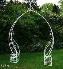 Shabby Chic Garden Arch Vintage White Design Groom & Bride Reception Wedding Day