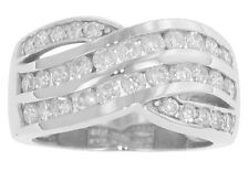 2.50 ct Ladies Round Cut Diamond Anniversary Ring In Two Row Channel Setting