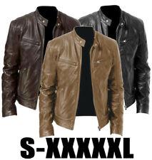 Men's Leather Jacket Motorcycle Slim Fit Biker Genuine Lambskin jacket Coat