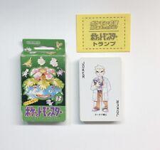 Pokemon Playing Cards Green Deck Box Trump Rare Japanese Poker Venusaur Nintendo