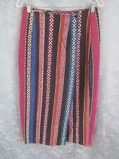 BE Baja Striped Long Skirt Size Medium 100% Cotton Casual Boho Hippie