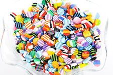 8mm Acrylic Round Cabochon Flat backs, 50 pcs mixed random colors cab0313