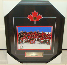 2014 Winter Olympics Gold Medal Men Hockey Canada Picture Frame Loonie Picture
