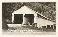 Dawson Camp WV * Cheat River Covered Bridge 1855  * RPPC ca. 1950  Preston Co.