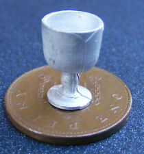1:12 Scale White Metal Goblet Dolls House Miniature Bar - Pub Accessory DH054a