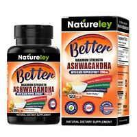 Organic Ashwagandha 2100mg, 120 Caps for Anxiety, Stress Relief, Immune Support