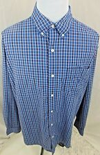 Chaps Ralph Lauren Men 2XTall  Easy Care Button Down Plaid  Shirt EUC Ofcs