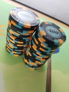 paulson classic poker chips $100 black, 40 chips