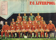 POSTER F.C. LIVERPOOL 1969 (COMES FROM DUTCH COMIC MAGAZINE PEP)