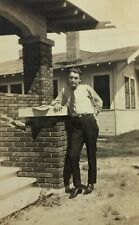 Vintage Found Photograph Handsome Man Swag Stance Pose Gay Interest Ab