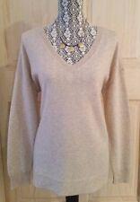 NWT APT 9 100% CASHMERE V-Neck Tunic Sweater ~ XL ~ Tan Heather Oatmeal