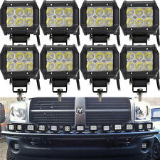 8x 18W 4inch Spot LED Driving Work Light Pickup Bumper Boat Jeep ATV UTE 4X4 Bus