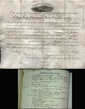 1828 RARE Royal College of Surgeons Vellum Certificate signed by JOHN LIZARS