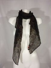 KATE MOSS FOR TOPSHOP PAISLEY PRINTED SCARF WRAP HEAD BAND SHEER MULTI COLOR $45