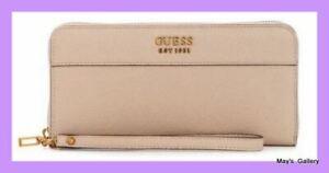 Guess Jeans Wallet Check Book Holder Handbag Purse Hand Bag Coin Zip Wristlet