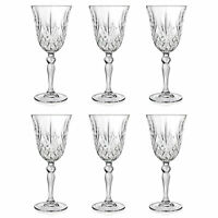 Set of 6 - RCR Italian Crystal Melodia White Wine 21 cl Goblet Glasses -SALE