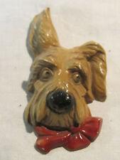 Vintage chalkware Scottie Scottish terrier dog wall plaque
